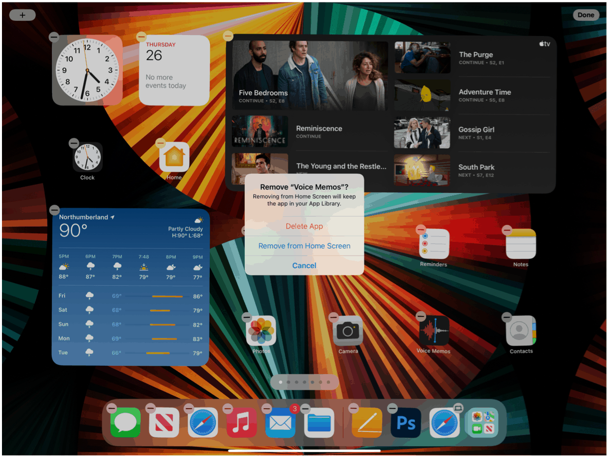 iPad remove app