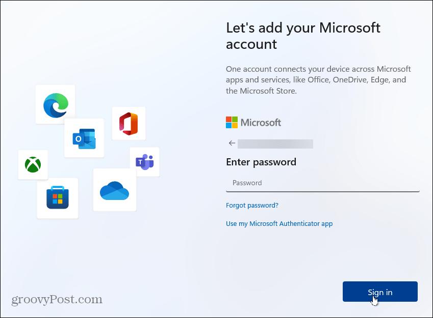 password Windows account