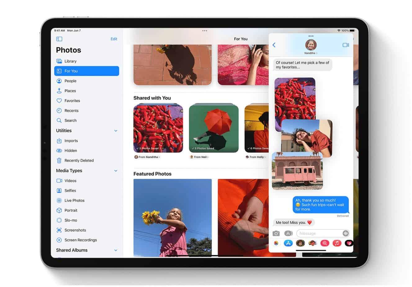 shared photos on iPad