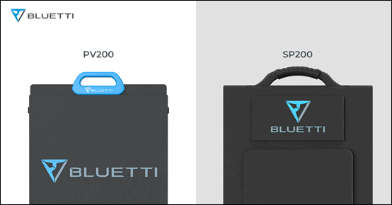 Handles on the BLUETTI PV200 and SP200 solar panels