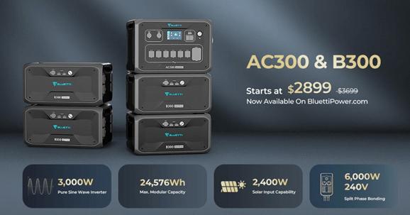 BLUETTI AC300 and B300 deal