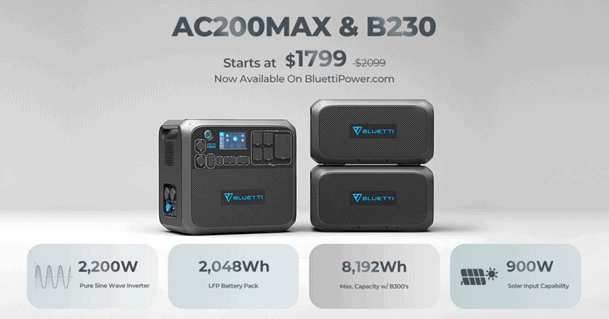 BLUETTI AC200 Max and B230 deal