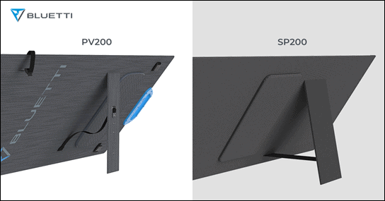 Stands on the BLUETTI PV200 and SP200 solar panels