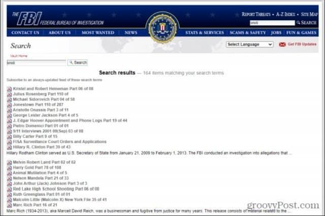 fbi vault