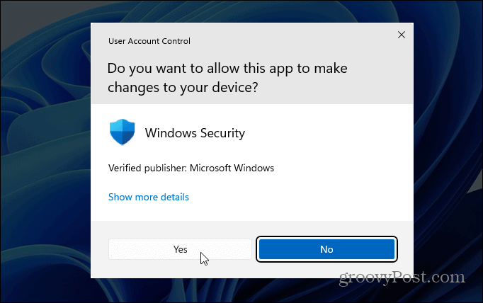 User Account Control Windows 11
