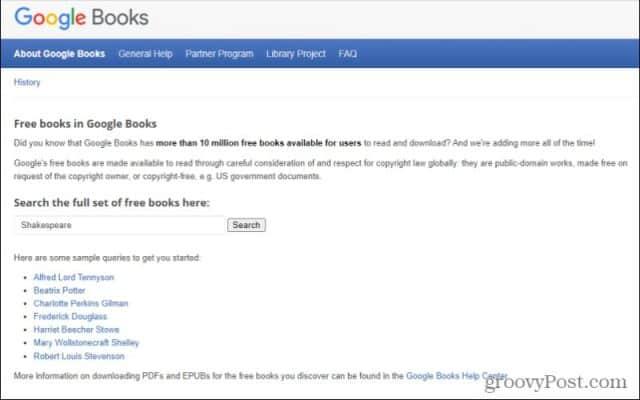 search google books