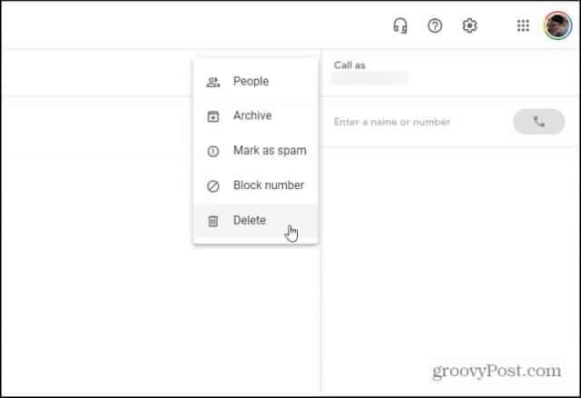 delete google voice