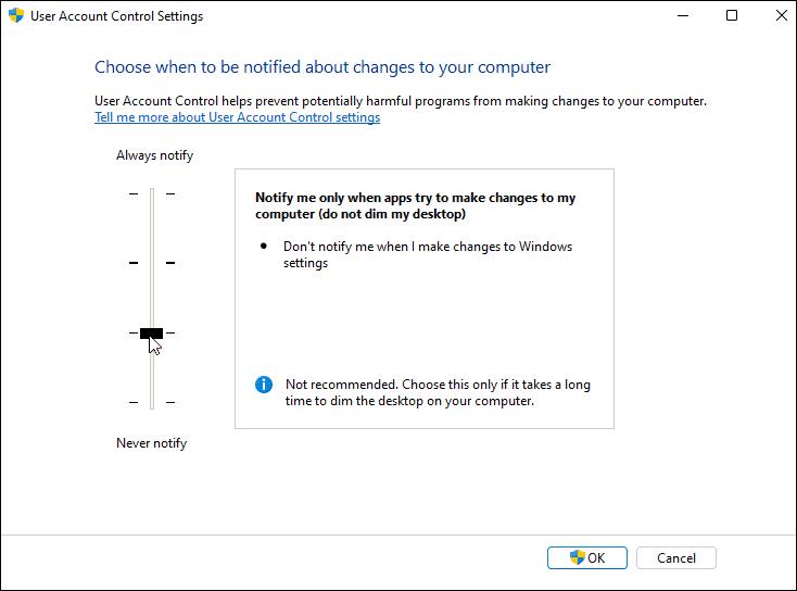 uac settings windows 11