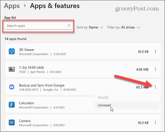 Apps List Windows 11