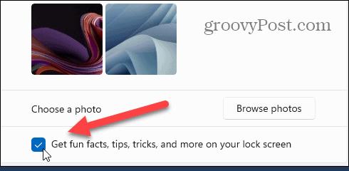 tips fun facts Windows 11 Lock Screen