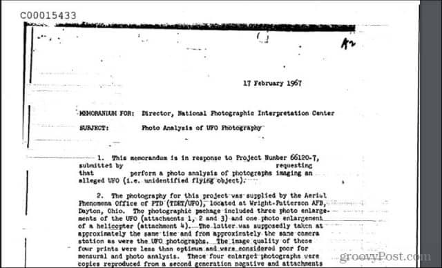 ufo documents