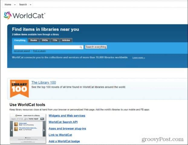 worldcat search
