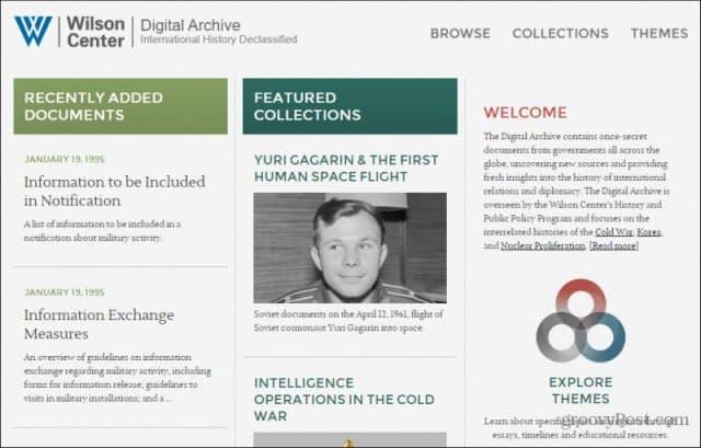 wilson center main page