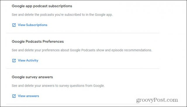podcasts and surveys