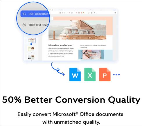 PDFelement conversion quality