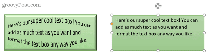 Edit a text box in Word