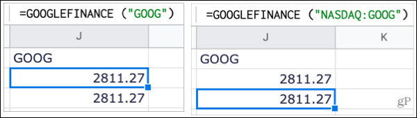 Track stocks in Google Sheets with and without the exchange