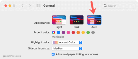 Auto display in System Preferences