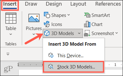 Insert 3D models in Microsoft Office