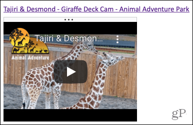 Video in OneNote for the web