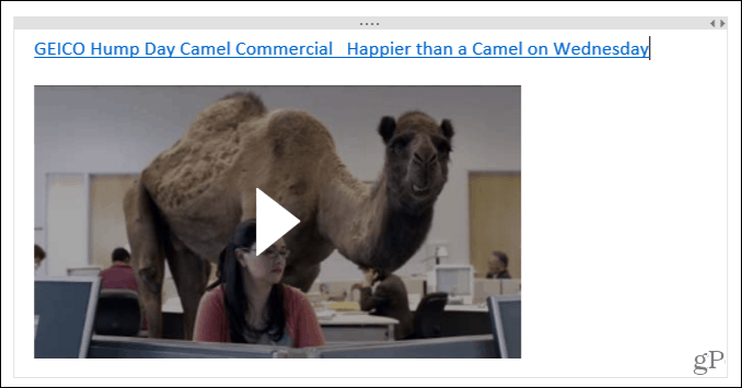 Video in OneNote for Windows 10