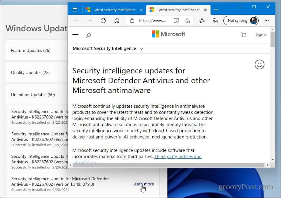 Learn more about windows update