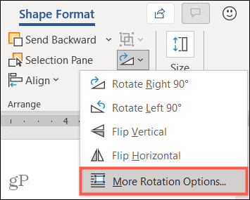More Rotation Options