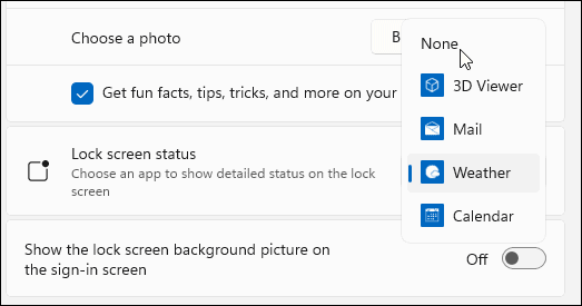 None apps with detailed status Windows 11