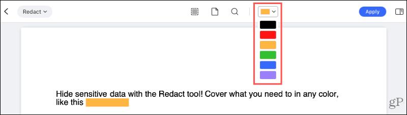 Redact tools