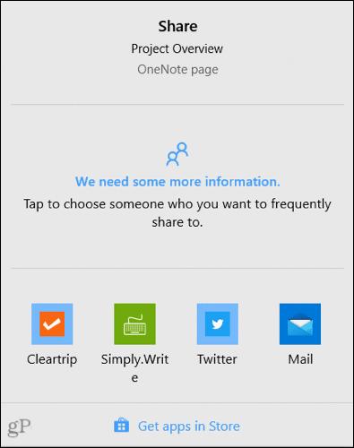 Choose a sharing app
