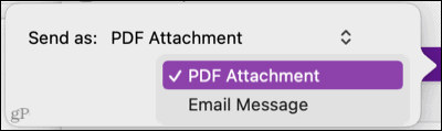 Share a note in OneNote on Mac
