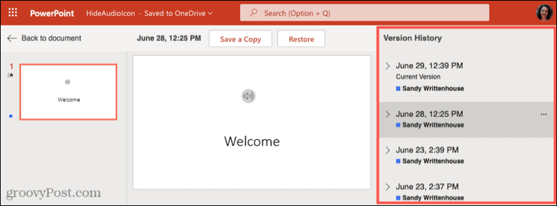 Use Version History to collaborate in Microsoft Office