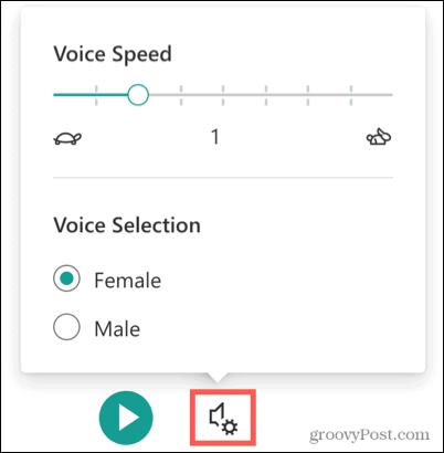 Voice Settings