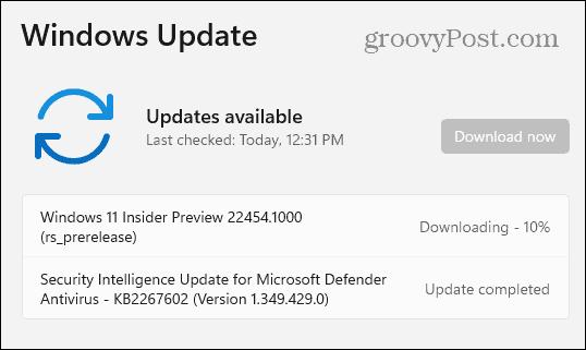 Windows 11 Dev Channel Build 22454