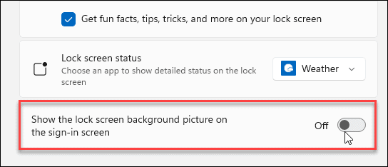 show background sign-in windows 11