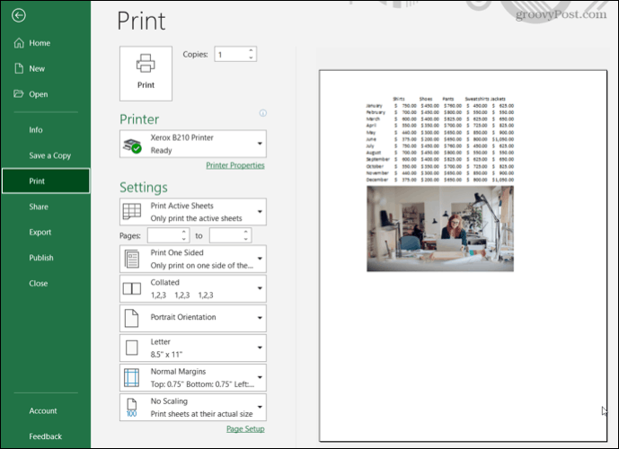 Print preview without gridlines in Excel