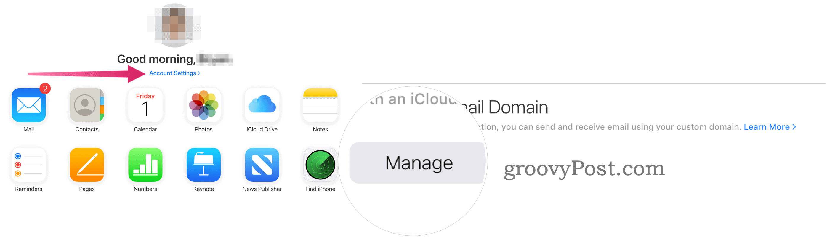 Manage custom email domain