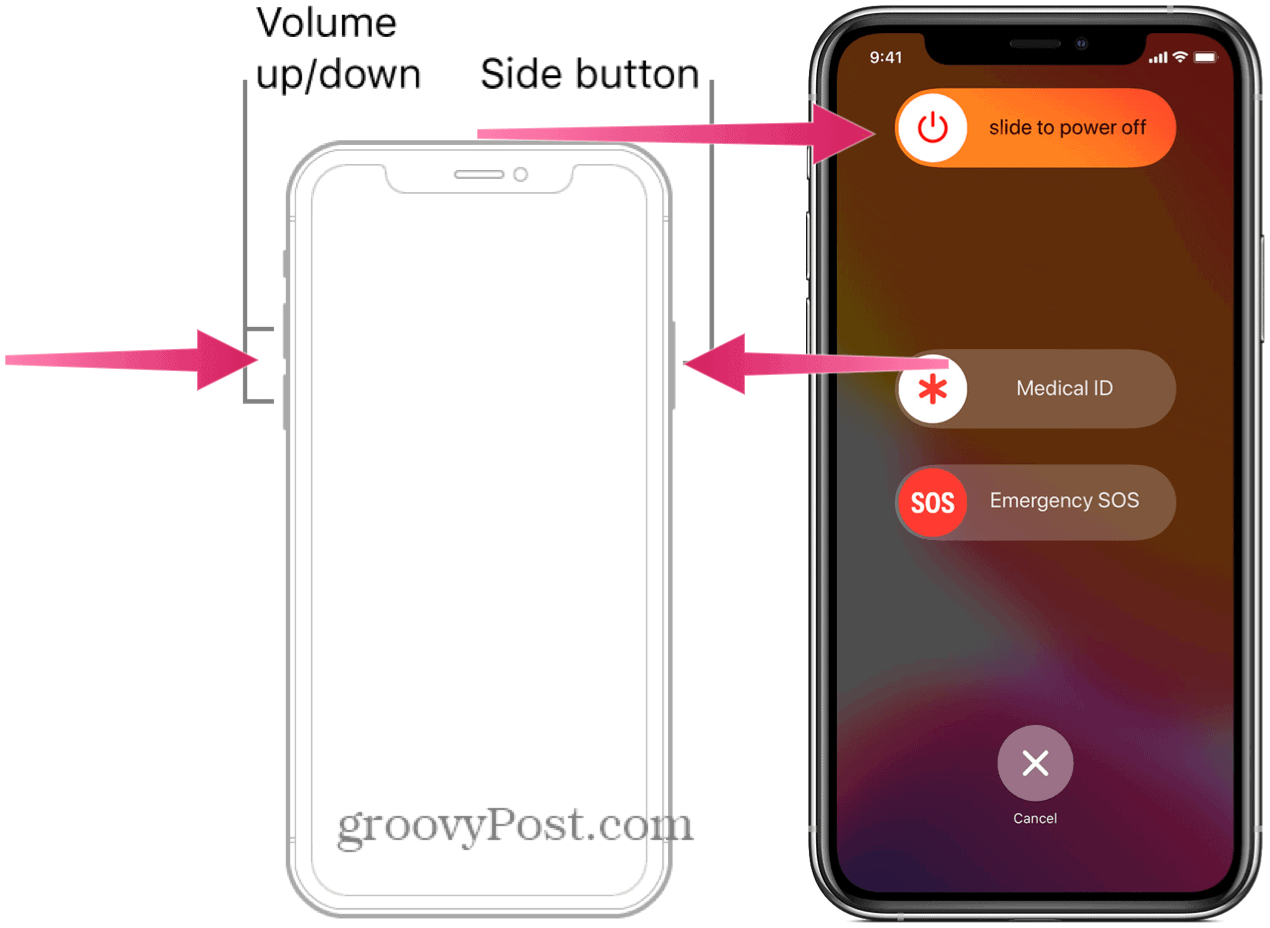 Restart iPhone 13 volume up and down
